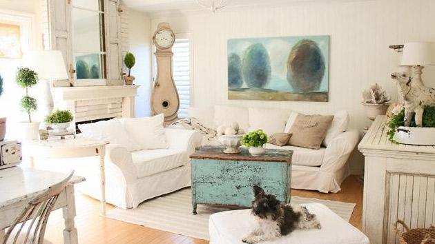 white-shabby-chic-living
